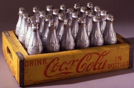 Silver Coke Bottles
