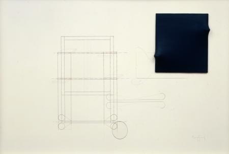 Progetto, 1972 tecnica mista 50x72 cm