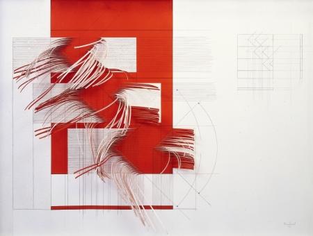 Progetto, 1973 tecnica mista 102x146 cm