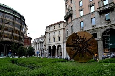 Disco Solare di Arnaldo Pomodoro @Milano_ www.culturefor.com