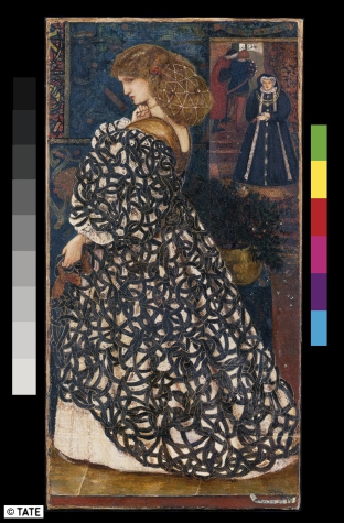 Edward Burne‐Jones, 1833‐1898 Sidonia von Bork 1560 1860 Acquerello e guazzo su carta, cm 34,1 x 17,8 Lascito di W. Graham Robertson, 1948 ©Tate, London 2014