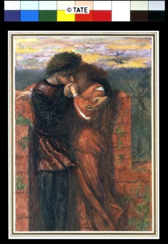 Dante Gabriel Rossetti (1828‐1882) Carlisle Wall (Gli amanti) 1853 Acquerello su carta, cm 24,1 x 16,8 Lascito di E. K. Virtue Tebbs, 1949 ©Tate, London 2014