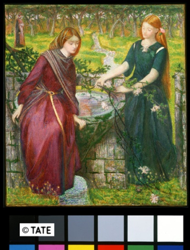Dante Gabriel Rossetti (1828‐82) Visione di Dante: Rachele e Lia 1855 Acquerello su carta, cm 35,2 x 31,4 Lascito di Beresford Rimington Heaton, 1940 ©Tate, London 2014