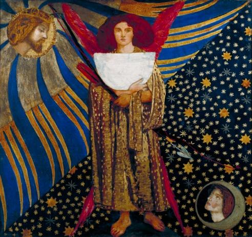 Dante Gabriel Rossetti (1828‐1882) Dantis Amor 1860 Olio su mogano, cm 74,9 x 81,3 Donato nel 1920 da F. Treharne James ©Tate, London 2014