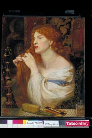 Dante Gabriel Rossetti (1828‐1882) Aurelia (L'amante di Fazio) 1863‐73 Olio su mogano, cm 43,2 x 36,8 Acquistato nel 1916 attraverso l'Art Fund con il sostegno di Sir Arthur Du Cross e di Sir Otto Beit ©Tate, London 2014