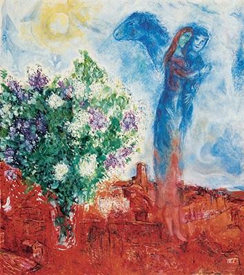 La coppia sopra Sain Paul_Marc Chagall