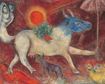 La Mucca con l'ombrello_Marc Chagall
