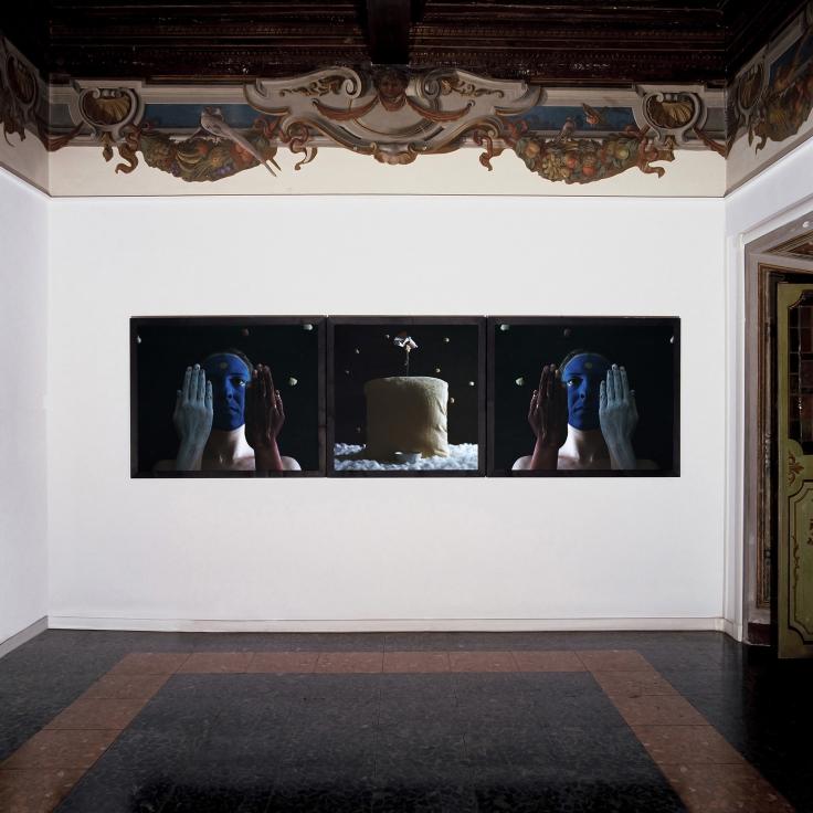 Michele Zaza, Paesaggio segreto, 2005, 3 elementi, 125x100 - 100x100 - 125x100 cm