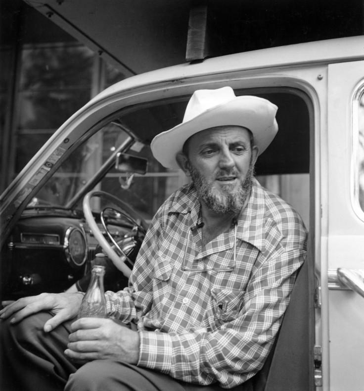 Imogen Cunningham (American, 1883–1976), Ansel Adams in a Truck, Yosemite Valley, 1953, gelatin silver print. Collection of Joyce Linker. © 1953, 2015 Imogen Cunningham Trust - www.imogencunningham.com