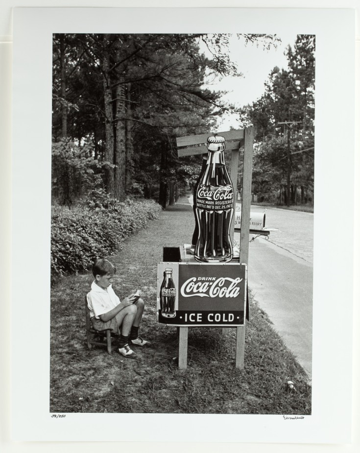 Alfred Eisenstaedt (American (b. Germany), 1898–1995), Little Boy Selling Coca-Cola at Roadside, Atlanta, Ga., 1936, gelatin silver print. Collection of The Coca-Cola Company.