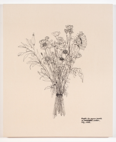 HONG Youngin_Drawing Flowers_Bought for seven pounds at Whitechapel, London, July 2005