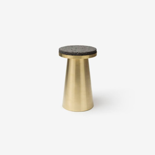 SEO Jeonghwa_Material container _ Basalt on brass