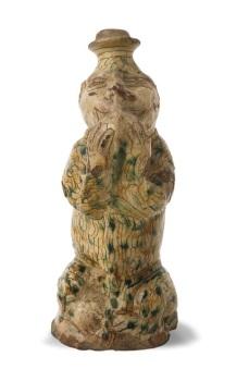 Bottiglia a forma di scimmia - manifattura imolese