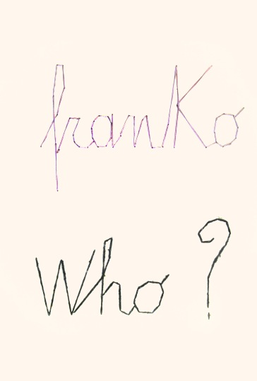 FRANKO B_ Art education, 2015, lana e cotone cuciti su carta
