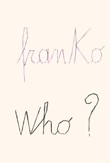 FRANKO B_ Art education, 2015, lana e cotone cuciti su carta