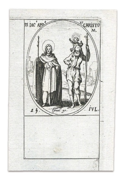 I santi Giacomo Maggiore e Cristoforo - Jacques Callot