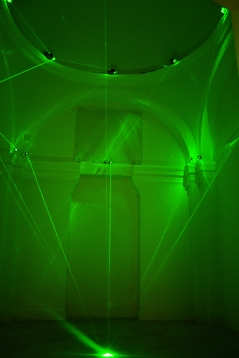 TAO NA_Great Diamond, 2014, installazione, laser e specchi