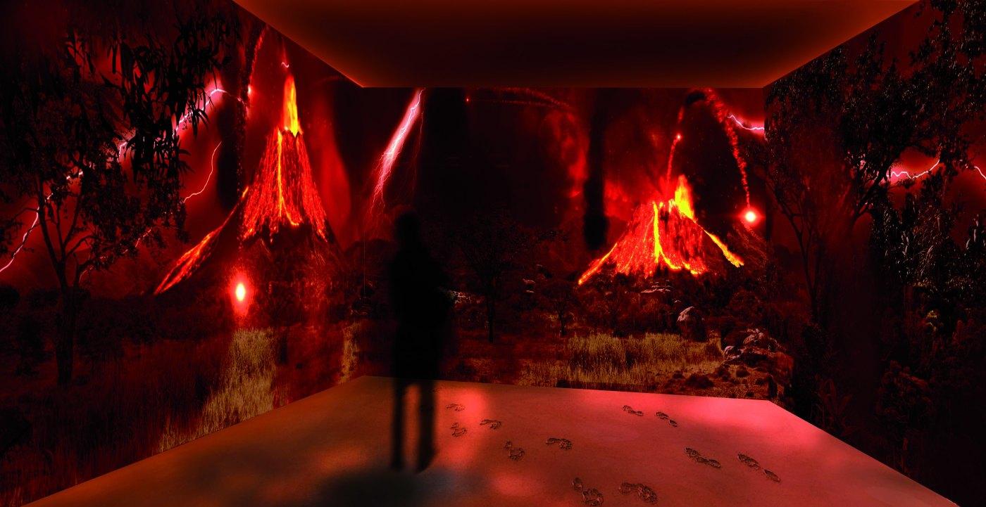 Impronte Laetoli - Exhibit immersivo Laetoli © Photo Sveva Bellucci
