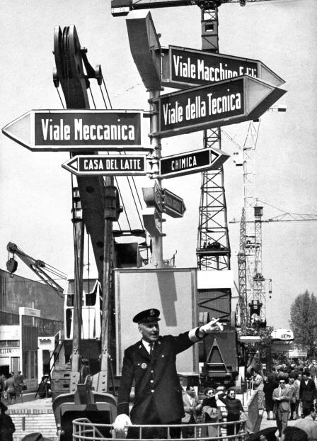 Largo del lavoro e viale del lavoro, 1952, Archivi Farabola