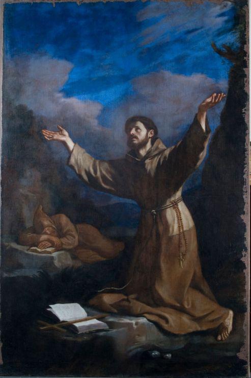 02_Guercino, San Francesco riceve le stimmate, Novara, Basilica Cattedrale