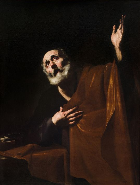 04_Jusepe de Ribera, San Pietro penitente, Malta, collezione privata