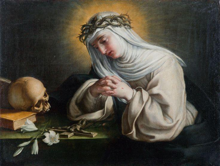 05_Raffaello Vanni, Santa Caterina in preghiera, Roma, Collezione Fabrizio Lemme