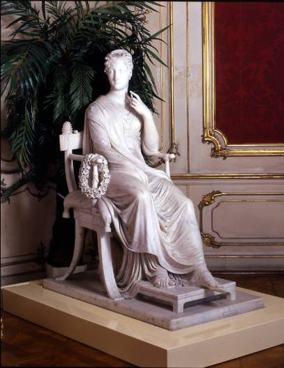 La musa Polimnia 1812-1817 marmo Vienna, Bundesmobilienverwaltung, Hofburg, Kaiserappartements CP: Foto 5477: credit Tina King