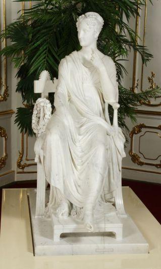 La musa Polimnia 1812-1817 marmo Vienna, Bundesmobilienverwaltung, Hofburg, Kaiserappartements CP: Foto 1103: credit Sascha Rieger