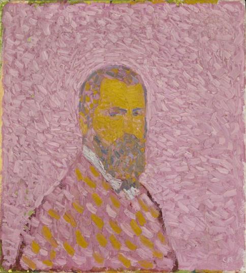 1907.03 Autoritratto in rosa (Selbstbildnis in Rosa) 1907, olio su tela, 61 x 55 cm Collezione privata © M. + D. Thalmann, Herzogenbuchsee Crediti fotografici: SIK-ISEA, Zurigo (Philipp Hitz)