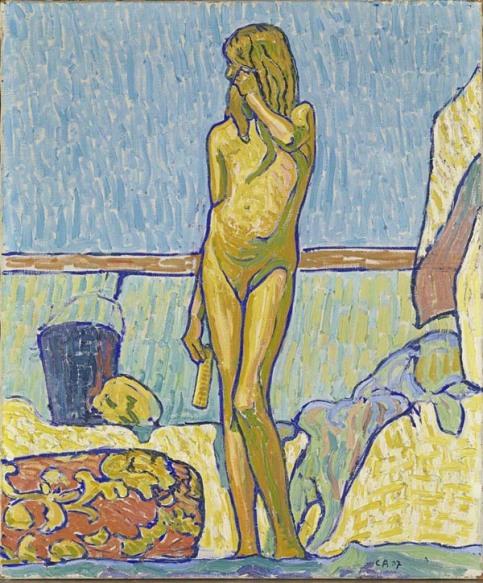 1907.14 La ragazza gialla (Lydia) (Das gelbe Mädchen - Lydia) 1907, olio su tela, 64.5 x 54 cm Kunstmuseum Olten © M. + D. Thalmanmn, Herzogenbuchsee Crediti fotografici: SIK-ISEA, Zurigo (Philipp Hitz)