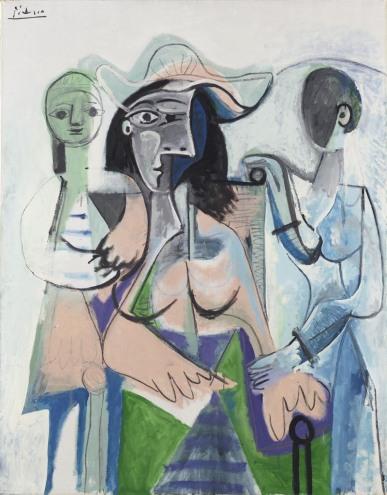 36. Pablo Picasso - Donna e bambine, 1961
