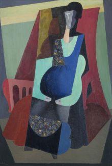 DIEGO RIVERA DONNA IN VERDE, 1916 olio su tela 155,5 × 115 × 5,5 cm Museo de Arte Carrillo Gil