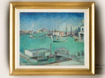Carlo Carrà Bacino San Marco, 1932 Olio su tela, cm 38 x 46 Galleria d'Arte Moderna Milano, Collezione Vismara